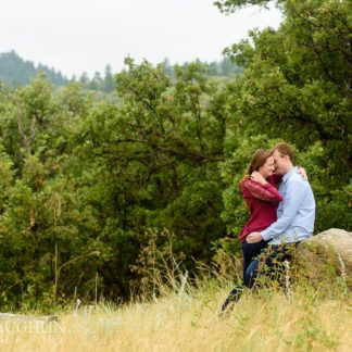 castlewood canyon engagement picture